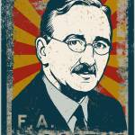 """distressed hayek poster-04"" by libertymaniacs"