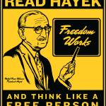 """read hayek yellow poster-04"" by libertymaniacs"