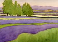 Landscape in Green & Lavender