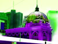 Flinder's Street station abstracted color