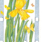 """Yellow Iris"" by ArtbyJudyNewcomb"