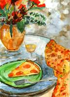 French Bistro Watercolor by Ginette Callaway