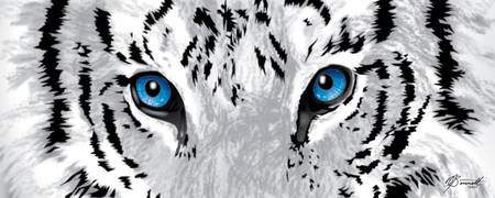 Snow Tiger's Soul in Blue