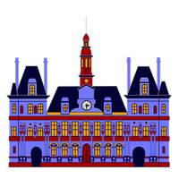 Inspired by l'Hôtel de Ville (the City Hall), Pari
