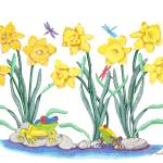 """Daffodil Parade"" by ArtbyJudyNewcomb"