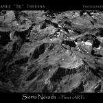 """Sierra Nevada Planet Art BW Print"" by lightningman"