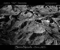 Sierra Nevada Planet Art BW Print