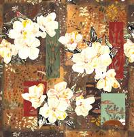 white flowers and patchwork