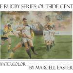 """Rugby Series: Outside Center"" by FluidColor"