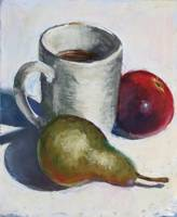 Still Life - Teacup, Pear & Pomegranate