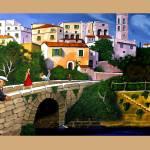 """OLD MAN ON BRIDGE"" by artistcain"