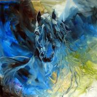 """BLUE GHOST FRIESIAN"" by MBaldwinFineArt2006"
