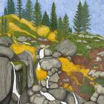 """Tahoe Echo Falls"" by ArtbyJudyNewcomb"