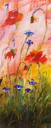 Wildflowers Part 3 - Original Painting by Ginette