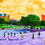 """""""Stepping into the city"""" by Artkeptsimple"""