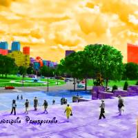 Stepping into the city Art Prints & Posters by Korvin Snerf