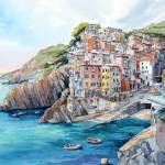 """Riomaggiore"" by WillyDaleArt"