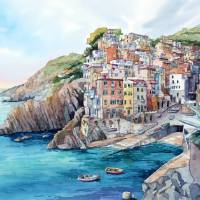 Riomaggiore Art Prints & Posters by Bill Drysdale