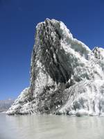 Iceberg floating in the Tasman Glacier lake, NZ