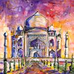 """""""Taj Mahal India Watercolor by Ginette Callaway"""" by GinetteCallaway"""