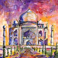 """Taj Mahal India Watercolor by Ginette Callaway"" by Ginette Callaway"