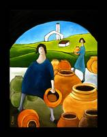 WOMEN WITH POTS