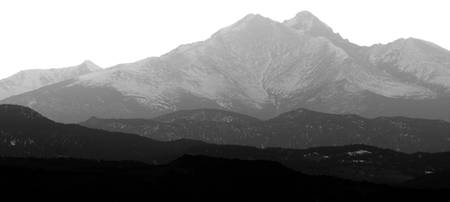 The Twin Peaks Rocky Mountains Foothills BW