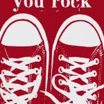 """YOU ROCK - RED VINTAGE CONVERSE SNEAKERS"" by lisaweedn"