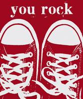 YOU ROCK - RED VINTAGE CONVERSE SNEAKERS
