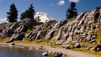 Mount Baker, Artist Point Tarn, Rock Wall