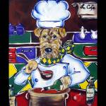 """""""Airedale Terrier Chef"""" by ArtbyJoanne"""