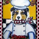 """""""Australian Shepherd Chef"""" by ArtbyJoanne"""