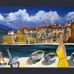 """""""CLOUDS AND VESPA"""" by artistcain"""