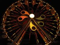 Giant Hershey Ferris Wheel at Night