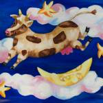 """Cow Jumping Over the Moon"" by KateLaufert"