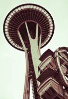 Space Needle Duotone