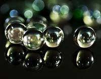 Marbles with Green and Black