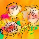 """Astral Impressions 3 Roses"" by petersart"