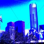 """Melbournes CBD Blue deux"" by davidflurkey"