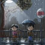 """""""raining bus stop"""" by youngmindz"""