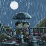 """""""a walk in the rain"""" by youngmindz"""