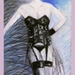 """""""BLACK LACE CORSET"""" by artistcain"""