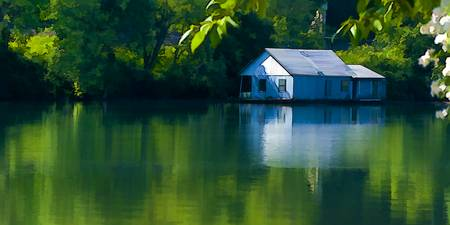 Blue Houseboat