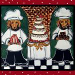 """""""Two Doxie Cake Chef"""" by ArtbyJoanne"""