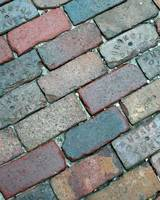 colorful paving bricks