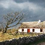 """IRISH COTTAGE WITH THE RED DOOR"" by karencolors"