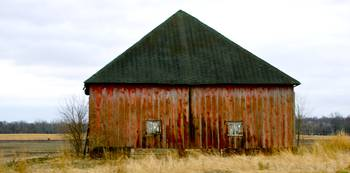 Faded Red Barn