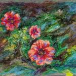"""Scarlet Flowers: Potentilla Nepalensis"" by Linandara"