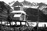 Seward Alaska House on Stilts BW