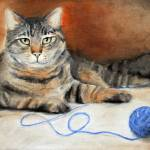 """Dare ya! Tabby Cat Feline with String by Violano"" by stella"